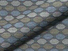 Möbelstoff DRIVA Muster Abstrakt Farbe blau als