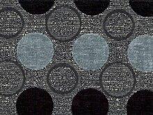 Möbelstoff Stage Point 3083 (grau, dunkelgrau, schwarz) - modernes Chenille-Flachgewebe (große Punkte, gemustert), Polsterstoff, Stoff, Bezugsstoff, Eckbank, Couch, Sessel, Hussen, Kissen