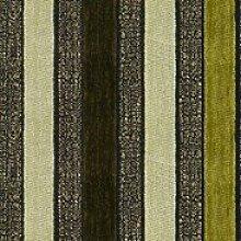 Möbelstoff Stage Streifen Farbe 7069 (grün, hellgrün, dunkelgrün, beige, grau) - modernes Chenille-Flachgewebe (gestreift, gemustert), Polsterstoff, Stoff, Bezugsstoff, Eckbank, Couch, Sessel, Hussen, Kissen