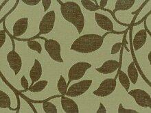 Möbelstoff Sweet November (für Kissen) Farbe 517 (grün, dunkelgrün, oliv) - modernes Chenille-Flachgewebe (gemustert, Blätter, Ranke) Polsterstoff, Stoff, Bezugsstoff, Eckbank, Couch, Sessel, Hussen, Kissen