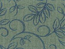 Möbelstoff Varese Farbe 15 (grau, blau) - modernes Chenille-Flachgewebe (gemustert, floral), Polsterstoff, Stoff, Bezugsstoff, Eckbank, Couch, Sessel, Hussen, Kissen