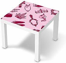 Möbeltattoo für IKEA Lack Tisch 55x55 cm   Deko Kindermöbel umgestalten   Dekorationsideen IKEA Möbelfolie Kinder-Zimmer Home Deko   Kids Kinder Pink Princess