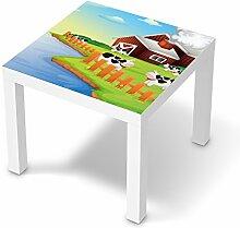 Möbeltattoo für IKEA Lack Tisch 55x55 cm   Dekosticker Kinder-Möbel Einrichtung   Einrichtungsideen Erlebnisraum Wohn Deko Ideen   Kids Kinder Cowfarm 2
