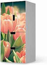 Möbeltattoo für IKEA Stuva Kommode kombiniert - 2 Schubladen und 2 kleine Türen | Designfolie Klebefolie Möbel-Sticker Folie | Inneneinrichtung gestalten Wohnaccessoires | Design Motiv Tulips for You
