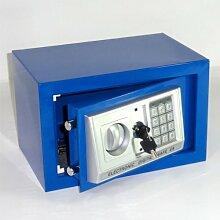 Möbeltresor Safe Tresor - BLAU - Code m. Tastatur - 2 x Notschlüssel - ca. 12 l