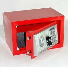 Möbeltresor Safe Tresor - ROT - Code m. Tastatur - 2 x Notschlüssel - ca. 12 l
