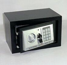 Möbeltresor Safe Tresor SCHWARZ - ca. 12l - elektr. Zahlenschloß + Notschlüssel