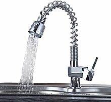 Moecd voll Kupfer amerikanischen Frühling kleine umlaufende Küche Wasserhahn Kalt Warm Waschbecken Waschbecken Wasserhahn