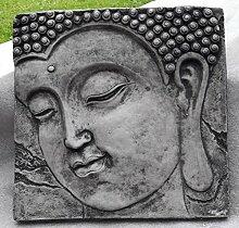 Mönch Bild Relief Wandbild hängend Steinguss