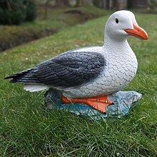 Möwe Maritime Deko Dekofigur Vogel Seemöwe Tierfigur Gartenfigur Gartenteich