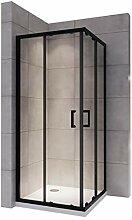 MOG Duschkabine mit Schiebetüren 75x90 cm Höhe: