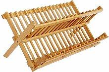 MoGist Tellerständer 16 Gitter Holz Plate Rack