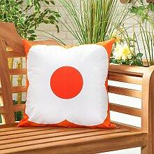 Mohn Orangerot Wasserfeste Leinwand Outdoor-xy-garten Gefüllt Kissen Gedruckt 18