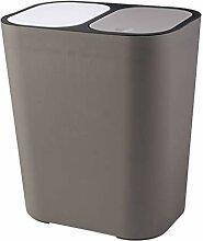 MOJ Mülleimer Papierkorb Kunststoff 2 Fach Abfall