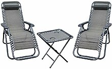 Mojawo 3-TLG. Luxus Comfort Set Gartenstuhl -