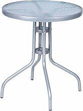 Mojawo® Bistrotisch Glas/Metall Rund Ø 60 H70cm