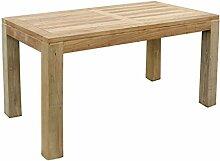 Mojawo Massivholz Gartentisch aus Teakholz