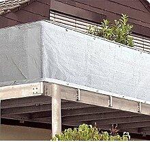 Mojawo Sichtschutz Weiß Balkonsichtschutz mit