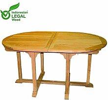 Mojawo XXL Premium Teak Tisch Gartentisch Oval