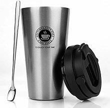 MojiDecor Edelstahl Kaffeebecher Thermobecher mit
