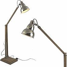 MOJO Industrial Chic Lampe Stehlampe Retro Vintage Leuchte Sofalampe l39