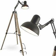 MOJO Industrial Chic Stehlampe Retro Vintage Lampe Tripod Schwenkarm ml41