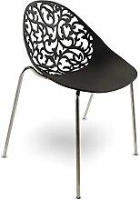mojoliving MOJO Kunststoff Stuhl Lounge Retro