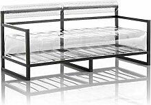 Mojow - Aufblasbarer Sofa mit Metallstruktur -