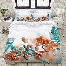 MOKALE Bedding Bettwäsche-Set,Exotische Orchideen