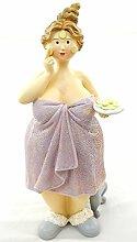 Mollige Frauenfigur Gurke Frauenstatue rosa Dekoration Badezimmer