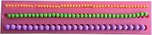 MOLLYSKY 3 Größen Perlenkette Design DIY Fondant Polymer Clay Werkzeuge 3D-Silikon-Form,Rosa