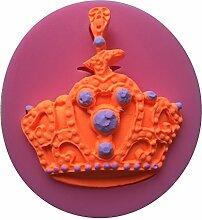 MOLLYSKY Kronen-Art-Schokolade 3D-Silikon-Kuchen-Form-Fondant-Werkzeuge,Rosa