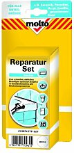 Molto Reparatur Set, Reparatur-Lackstift 12 ml, Spachtelmasse 75 g, Härter 10...