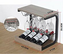 MOM Kreative Weinregal, 4 Flaschen Edelstahl,