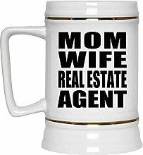 Mom Wife Real Estate Agent - Beer Stein Bierkrug
