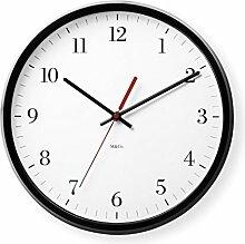MoMA Wanduhr M&Co Bodoni Clock, Kunststoff, Quarz-Uhrwerk, weiß, 3.81 x 31.75 x 31.75 cm