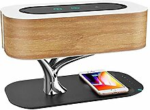 MOMAMO Nachttischlampe Mit Bluetooth-Lautsprecher