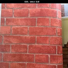 MoMo 3D Brick Pattern PVC-Tapete Dekoriert Red
