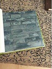 MoMo Non-Woven Brick Pattern Tapete, Retro