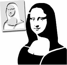 Mona Lisa Leonardo da Vinci Schablone Wand Malerei
