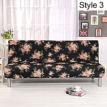 Monba Sofabezug mit Blumenmuster, Armlos,