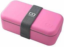 Monbento 100012106 MB Single - Lunchbox - Brotbox - Snackbox - Farbe: pink / rosa