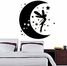 Mond & Fairy Kinderzimmer Wanddekoration Vinylwand Stickereasy Peel & Stick Aufkleber
