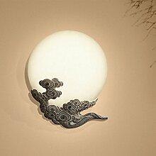 Mond Harz Wandlampe, Vintage geschnitzte Cloud
