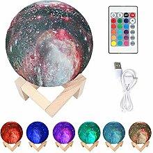 Mond-Lampe, 3D-Druck, Sternenhimmel, Mondlicht mit
