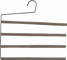 Mondex mon8886–00Kleiderbügel Tür Hosen Anti Glisse 4Stangen Metall/Schaumstoff taupe 35,5x 1,2x 33,5cm