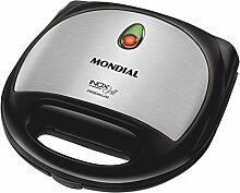 Mondial Premium Grill und Sandwichmaker, abnehmbaren Platten, Silber