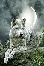 Mondlicht Wolf Diamant Malerei 5D DIY Voll Bohren