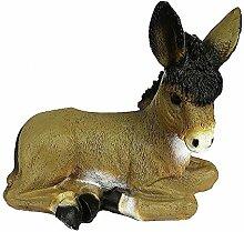 Mondo Shop.de Deko Esel sitzend Gartendeko Tierfigur Gartenfigur Dekofigur (Sehen Sie Bitte in Unsere Größentabelle, 45.82)