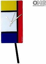 Mondrian Wanduhr - Wanduhr - Murano Glas OMG